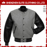 2017 L'hiver personnalisé veste en cuir de mens de la laine de bombardement de gros (ELTBQJ-538)
