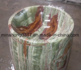 녹색 회색 또는 녹색 또는 까맣고 또는 녹스는 또는 노랗고 또는 백색 또는 분홍색 베이지색 또는 Multi 브라운 또는 빨강 또는 Ora 오닉스 수채 대리석 수채 돌 수채 또는 목욕탕 수채 또는 세면기 또는 Polished 수채