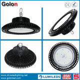 Des UFO-LED Highbay hohes Bucht-Licht 150W Lampe Dimmable Fühler-130lm/W 240W 200W 100W LED