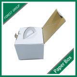 Белая коробка тортов Cardbaord упаковывая с ручкой