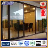 Подъем и раздвижная дверь серого цвета алюминиевый обрамленный двойной стеклянный с экраном