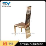 Low Price Hotel PU cadeira de jantar de aço inoxidável