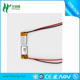 La batería más pequeña Lipo 3.7V 60mAh pequeña batería de polímero de litio de la batería Lipo para Bluetooth 401120