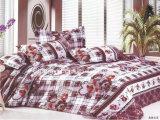 Reeks van het Beddegoed van het Blad van het Bed van Microfiber van de Polyester van 100% de Duidelijke Geverfte Goedkope Vastgestelde