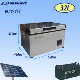Purswave 32L DC Freezer Refrigerador portátil Refrigerador solar DC12V24V48V Batería congelador -18degree