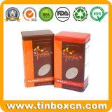 금속 음식 양철 깡통을%s 직사각형 경첩을 단 주석 초콜렛 상자