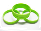 Personifizierte Firmenzeichen Debossed Silikon-Handgelenk-Bänder für förderndes Geschenk