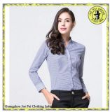 Trendy Design à manches longues Women100% Leisure Shirt Lady Office Uniform