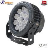 Luz de LED de qualidade 12W Holofote LED RGB no IP65