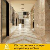 Talla grande Brown y azulejo de piedra amarillento del mármol de la porcelana