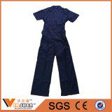 La combinaison de vêtements de travail la meilleur marché de bleu marine de coton de 35%