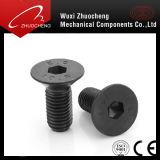 고품질 탄소 강철 급료 4.8 8.8 10.9 12.9 까만 육 소켓 편평한 맨 위 나사 DIN7991
