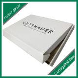 Rectángulo de empaquetado de papel de la cartulina blanca