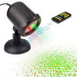 Laser verde vermelho do movimento do chuveiro do projetor ao ar livre da estrela do Natal IP65