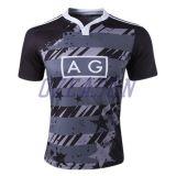 Chemise réglée de rugby d'équipe professionnelle de Subliamtion Nouvelle Zélande (R018)