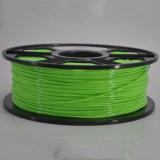 Оптовая нить PLA печатание 3D зеленого цвета 1.75mm 3mm пластичная