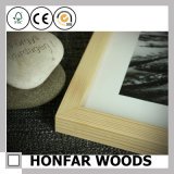 Natürlicher festes Holz-Bilderrahmen mit Lack