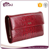 Бумажник повелительницы неподдельной кожи женщин способа с карманн монетки
