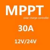 Cer RoHS Fangpusun blauer Solarladung-Controller 12V/24V 30A MPPT für 440W 880W PV Panel-System