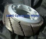 Roda cilíndrica de diamante