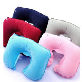 En forma de U de PVC blando cómodo inflable del cuello del recorrido de la almohadilla