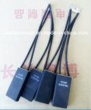 Balai de charbon national de moteur d'électrographite de pente de la Chine D374N