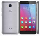 """2016元のロック解除されたHuaweiの名誉5X 5.5 """"人間の特徴をもつOctaのコア13MP 4G Lte携帯電話"""