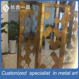 Do setor dourado do aço inoxidável de Rosa divisor de quarto de dobramento para Salão