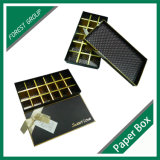 Venta caliente caja de embalaje del chocolate de lujo Papel