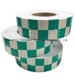 Película reflexiva del cedazo del Sujetar con cinta adhesiva-Cristal del PVC 5 cm del diseño de la red de los colores del doble
