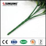 Tissu artificiel vert écologique de l'usine de pulvérisation avec test ignifugé