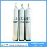 Cilindro de gás de dióxido de carbono sem emenda 2016 40L ISO9809 / GB5099