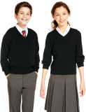 Les chandails confortables de haute qualité pour les étudiants uniforme