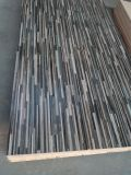 MDF de la cara de la teca de Camroon, color No.: 809, talla 120X2440m m, espesor: como su orden, pegamento: E0, MDF del papel de la teca de Camroon, MDF de la melamina