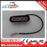 Verde branco azul vermelho ambarino Emergency da luz 4W 4LEDs da grade do veículo do diodo emissor de luz