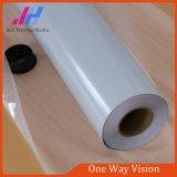 Visão adesiva perfurada do one-way do vinil do PVC da colagem preta