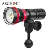 Archon W32vr Anneau de lumière rouge de l'interrupteur magnétique 2000 lumens de lumière blanc chaud torche vidéo de plongée