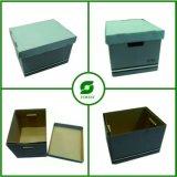 Comercio al por mayor caja de almacenamiento de cartón con asa