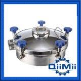 Alta pressão na tampa de esgoto sanitário SS304/ SS316L com plástico/ Volante em aço inoxidável
