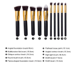 10pcs kit fondation cosmétiques brosses