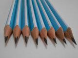 Crayon en bois de crayon d'élève de crayon avec le crayon d'HB de gomme à effacer