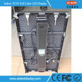 최고 호리호리한 풀 컬러 P3.91 250*250mm 임대료 LED 단계 전시