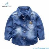Camicia del denim del Lungo-Manicotto dei ragazzi contratti nuovo stile dai jeans della mosca