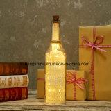 El vidrio Lilac de la botella de la luz de las estrellas de los regalos del amigo enciende para arriba amor sentimental de las botellas del mensaje