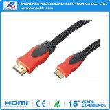 HDMIケーブルへの熱い販売5FT編みこみのHDMI