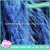 Lado de tricotar vestuário de tecelagem de fios de fantasia de lã de penas-1