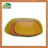 Umweltfreundliche natürliche Bambusfaser-Quadrat-Platte