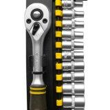 """Le chrome en acier de satin de Cr-v des outils à main 13PCS a plaqué 3/8 """" jeu de plot d'entraînement"""