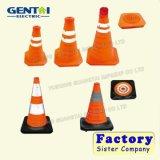A segurança rodoviária do Cone de tráfego de PVC Laranja Fluorescente