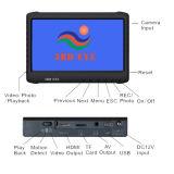 2m Portable HD Digital 1080P Uvss Gatekeeper Mini duplo sob câmeras de vigilância de veículo com 7inch HD Digital DVR System